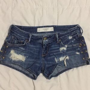 Distressed Studded Abercrombie & Fitch Shorts  2